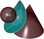 bisettrice lo spazio tra cono di rotazione e sfera