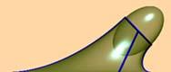 raccordo tangenziale tra un piano ed un  ellissoide che ha asse di rotazione  inclinato rispetto al piano