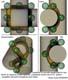 torica monogrammica di raccordo tangenziale tra cilindri ad assi sghembi